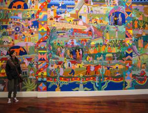 """Dipinto all'interno della """"Casa de la literatura peruana"""", Lima"""