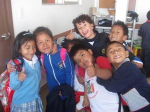 Alcuni dei bimbi che vengono in fondazione