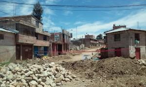 """""""Hombres trabajando"""", strade in costruzione, Santo Tomas, Chumbivilcas."""