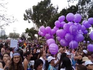 Manifestazione nel centro di Lima 8 MARZO 2017