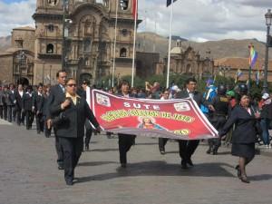 Manifestazione SUTE Regional Cusco