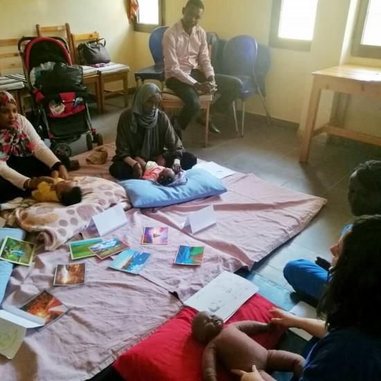 Primo corso di massaggio infantile.