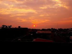 Il tramonto dal terrazzo di casa