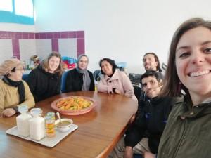 Equipe riabilitativa all'interno del centro Safir a Temara