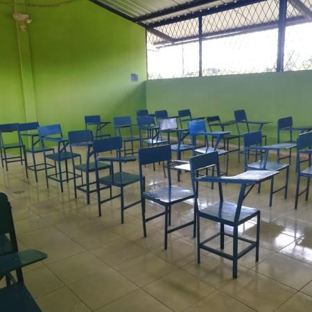 La mia aula in un raro momento di quiete prima della tempesta!