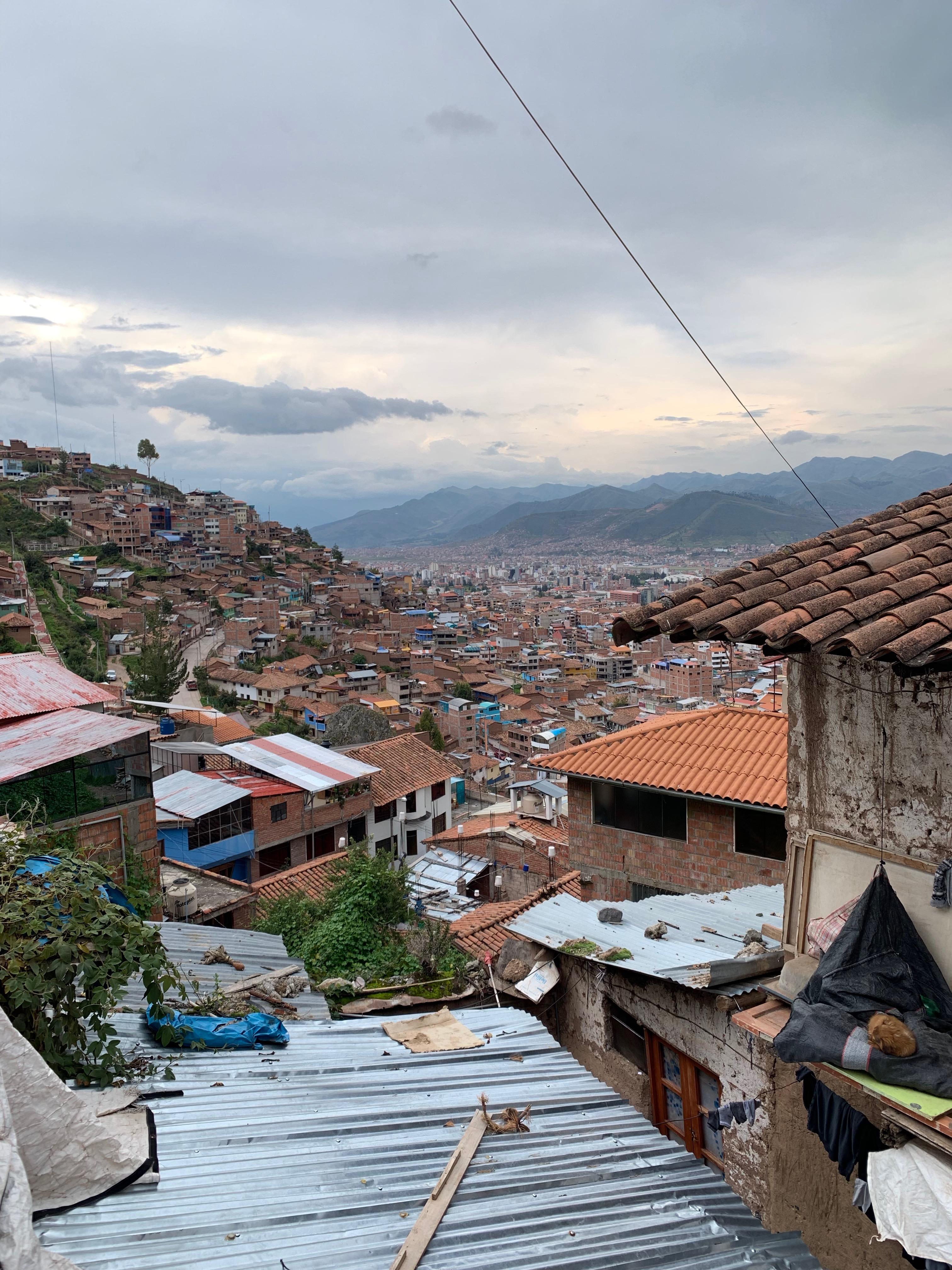 Cusco vista dall'alto di tante, troppe scale
